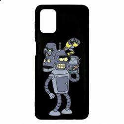 Чехол для Samsung M51 Bender and the heads of robots