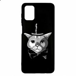 Чохол для Samsung M51 Black and white cat intellectual