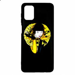 Чехол для Samsung M51 Black and yellow clown