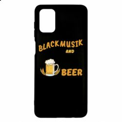 Чехол для Samsung M51 Black music and bear you can call me sir