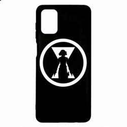 Чохол для Samsung M51 Black Widow logo
