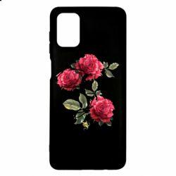 Чехол для Samsung M51 Буква Е с розами