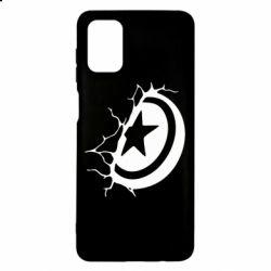 Чохол для Samsung M51 Captain America shield