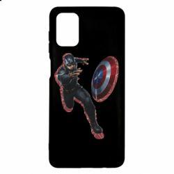 Чехол для Samsung M51 Captain america with red shadow