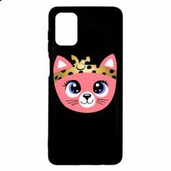 Чехол для Samsung M51 Cat pink
