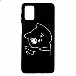 Чехол для Samsung M51 Cheerful kitten