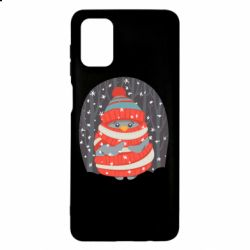 Чехол для Samsung M51 Christmas Sweet Penguin