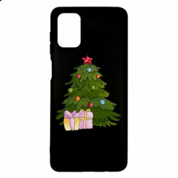 Чехол для Samsung M51 Christmas tree and gifts art