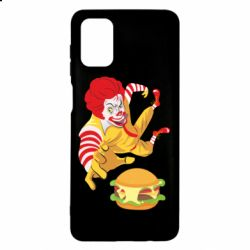 Чехол для Samsung M51 Clown in flight with a burger