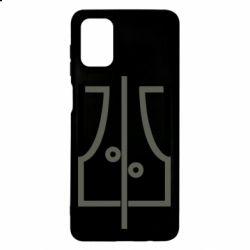 Чохол для Samsung M51 Coat of arms of Ukraine and the percentage