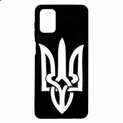 Чехол для Samsung M51 Coat of arms of Ukraine torn inside