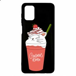 Чехол для Samsung M51 Cocktail cat and strawberry