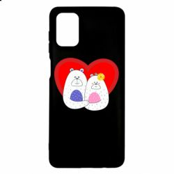 Чохол для Samsung M51 Couple Bears