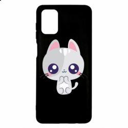 Чохол для Samsung M51 Cute cat with big eyes