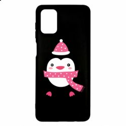 Чехол для Samsung M51 Cute Christmas penguin