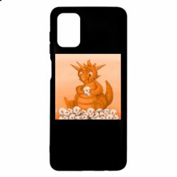 Чохол для Samsung M51 Cute dragon with skulls