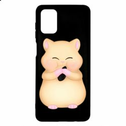 Чохол для Samsung M51 Cute hamster with sunflower seed