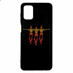 Чехол для Samsung M51 Dancing skeletons