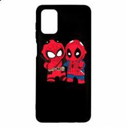 Чехол для Samsung M51 Дэдпул и Человек паук