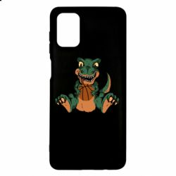 Чехол для Samsung M51 Dinosaur and basketball