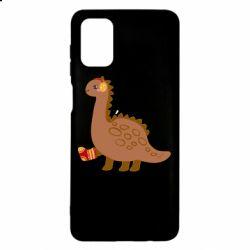Чехол для Samsung M51 Dinosaur in sock