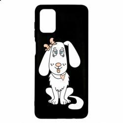 Чехол для Samsung M51 Dog with a bow