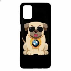 Чохол для Samsung M51 Dog with a collar BMW