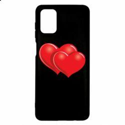 Чехол для Samsung M51 Два сердца