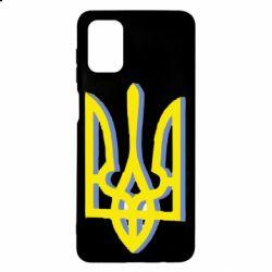 Чохол для Samsung M51 Двокольоровий герб України