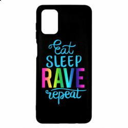 Чохол для Samsung M51 Eat, sleep, RAVE, repeat