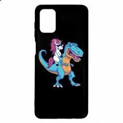 Чохол для Samsung M51 Єдиноріг і динозавр