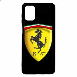 Чехол для Samsung M51 Ferrari 3D Logo