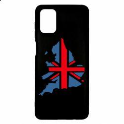 Чехол для Samsung M51 Флаг Англии