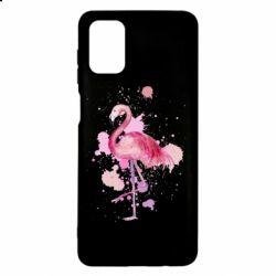 Чехол для Samsung M51 Flamingo pink and spray