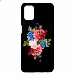 Чохол для Samsung M51 Flowers and butterfly