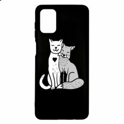 Чохол для Samsung M51 Fox and cat heart