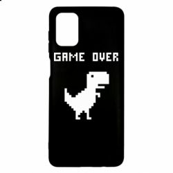 Чехол для Samsung M51 Game over dino from browser