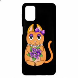 Чехол для Samsung M51 Girl cat with flowers
