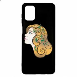 Чехол для Samsung M51 Girl with flowers in her hair art