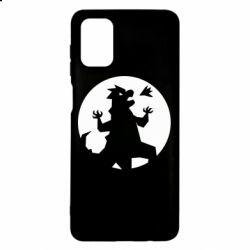 Чехол для Samsung M51 Godzilla and moon