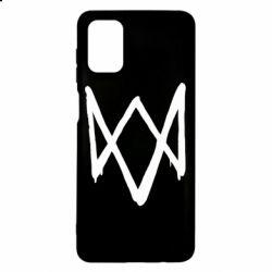 Чехол для Samsung M51 Graffiti Watch Dogs logo