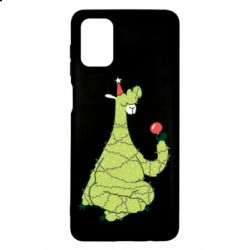 Чехол для Samsung M51 Green llama with a garland