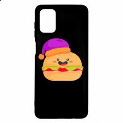 Чехол для Samsung M51 Happy hamburger