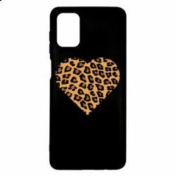 Чехол для Samsung M51 Heart with leopard hair