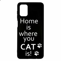 Чехол для Samsung M51 Home is where your Cat is!