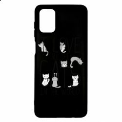 Чехол для Samsung M51 I Love all the cats in the world