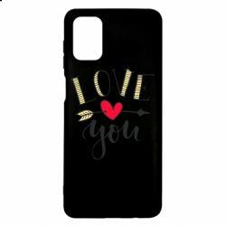 Чохол для Samsung M51 I love you and heart