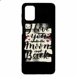 Чохол для Samsung M51 I love you to the moon