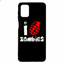 Чехол для Samsung M51 I love zombies