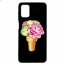Чохол для Samsung M51 Ice cream flowers